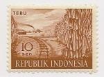 Sellos de Asia - Indonesia -  Tebu  (Caña)