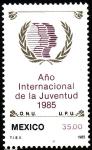Stamps Mexico -  Año internacional de la Juventud
