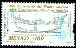 Sellos de America - México -  400 aniversario del primer impreso sobre construcción naval