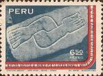 Stamps Peru -  Nuestra Gratitud al Mundo por su Ayuda Moral y Material en la Catástrofe de Ancash. 31-V-1970.