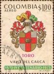 Sellos del Mundo : America : Colombia : Escudo de Armas de Toro - Valle del Cauca - IV Centenario.