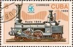 Stamps Cuba -  EXPO '86, Vancouver - Primera Locomotora de Rusia1845.