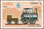 Stamps Cuba -  EXPO '86, Vancouver - Stourbridge Lion, 1829, EEUU.