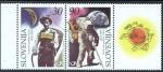 Stamps Slovenia -  UPU - 125 Aniversario