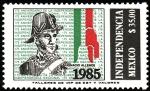 Sellos de America - México -  INDEPENDENCIA-Ignacio Allende