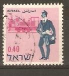 Sellos de Asia - Israel -  CARTERO   PALESTINO   Y   LOCOMOTORA