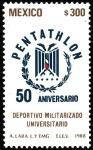 Sellos del Mundo : America : México : PENTATHLON-50 Aniversario