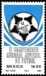 Stamps Mexico -  II Campeonato Mundial de Fútbol Juvenil