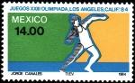 Sellos de America - México -  Olimpiada de los Angeles