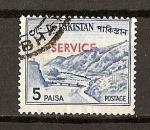 Stamps Asia - Pakistan -  Paso de Kyber. / Sobrecargado./ Servicio.