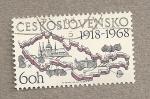 Sellos de Europa - Checoslovaquia -  50 Aniv. Mapa del país