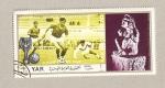 Sellos de Asia - Yemen -  Campeonato mundia fútbol 1970