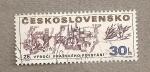 Stamps Czechoslovakia -  25 Aniv. liberación Praga