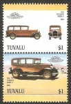 Stamps Oceania - Tuvalu -  vehículo 1928 plymouth model. USA