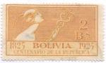 Sellos del Mundo : America : Bolivia : Centenario de la Fundacion de la Republica