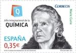 Stamps Spain -  ESPAÑA 2011 4637 Sello Nuevo Año Internacional de la Quimica Marie Curie Espana Spain Espagne Spagna