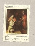 Sellos de Europa - Rusia -  El hijo pródigo por Rembrandt