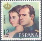 Sellos del Mundo : Europa : España : ESPAÑA 1975_2305 Don Juan Carlos I y Doña Sofia, Reyes de España. Scott 1930