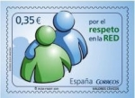 Stamps Europe - Spain -  ESPAÑA 2011 4642 Sello Nuevo Valores Cívicos Por el Respeto en la Red Espana Spain Espagne Spagna Sp
