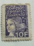 Stamps : Europe : France :  liberte egalite fraternite