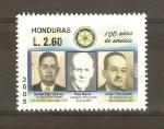 Sellos de America - Honduras -  CENTENARIO   DEL   CLUB   ROTARIO