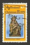 Stamps : Oceania : New_Zealand :  Navidad, la virgen y el niño, escultura de ghiberti