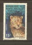 Stamps Burkina Faso -  LEOPARDO