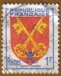 Sellos de Europa - Francia -  Escudo de Armas -CONTAT VENAISSIN