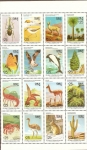 Stamps Chile -  FLORA   Y   FAUNA