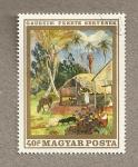 Stamps Hungary -  Cuadro de Gauguin