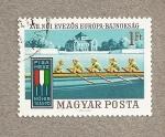 Sellos de Europa - Hungría -  Campeonatos remo