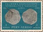 Stamps Peru -  Primera Exposición Numismática Nacional