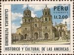 Stamps Peru -  Cajamarca, Patrimonio Histórico y Cultural de las Américas.