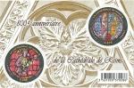 Sellos de Europa - Francia -  Catedral de Reims (vidrieras)