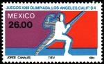 Stamps Mexico -  Olimpiada de los Angeles