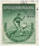 Stamps : Europe : Romania :  Futbol 1952