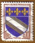 Sellos de Europa - Francia -  Escudo de Armas -TROYES