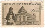 Stamps : Europe : Romania :  50 anos palacio Postelck