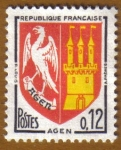 Stamps France -  Escudo de Armas -AGEN