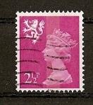 Stamps United Kingdom -  Serie Basica Elizabeth II - Escocia./ Fosforo Central.