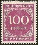 sellos de Europa - Alemania -  DEUTSCHES REICH - EIN HUNDERT