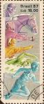 Sellos de America - Brasil -  X Juegos Panamericanos (Indianápolis, EUA).