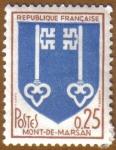 Stamps France -  Escudo de Armas -MONT DE MARSAN