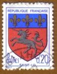 Sellos de Europa - Francia -  Escudo de Armas -SAINT-LO