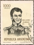 Stamps Argentina -  Próceres: Juan A. Alvarez de Arenales (1770-1831).
