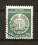 Stamps Germany -  Cuadrante del compas a la izquierda.