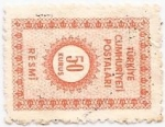Stamps Turkey -  turkiye cumhuriyeti
