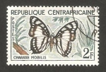 Stamps Central African Republic -  mariposa charaxe mobilis