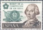 Sellos del Mundo : Europa : España : ESPAÑA 1976_2323 Conmemoración del bicentenario de la Constitución de los Estados Unidos. Scott 1948