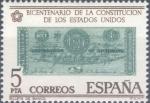 Sellos del Mundo : Europa : España : ESPAÑA 1976_2324 Conmemoración del bicentenario de la Constitución de los Estados Unidos. Scott 1949